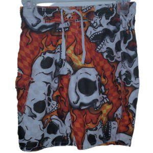 Boys Joe Boxer Skull Flame Swim Trunks 8